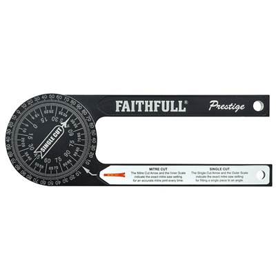 Faithfull Prestige Mitre Saw Protractor Black Aluminium