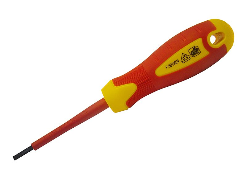 Slotted Soft Grip VDE Screwdrivers
