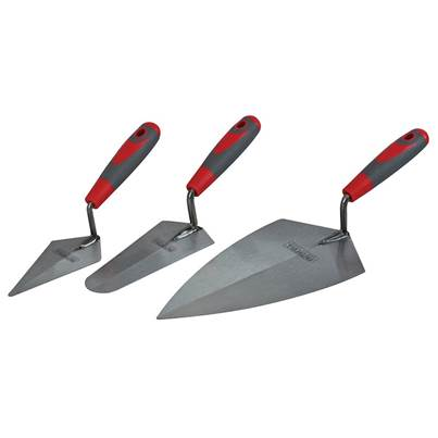 Faithfull Soft Grip Trowel Set, 3 Piece