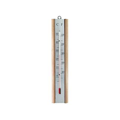 Faithfull Thermometer Wall Beech Silver 200mm