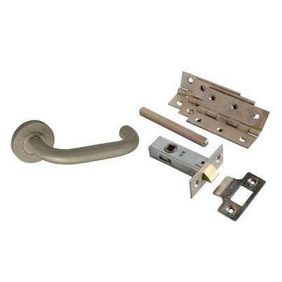 Forge Return To Door Handle Pack Stainless Steel