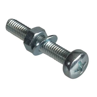 Forgefix Machine Screws, Pozi, Pan Head, ZP