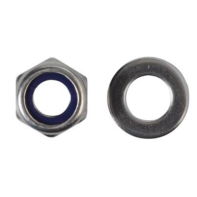 Forgefix Hexagonal Nuts with Nylon Inserts, A2 Stainless Steel, Forge Pack