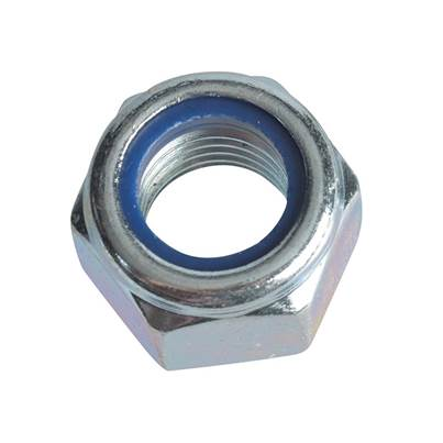 Forgefix Hexagonal Nuts with Nylon Inserts, Zinc Plated, Forge Pack