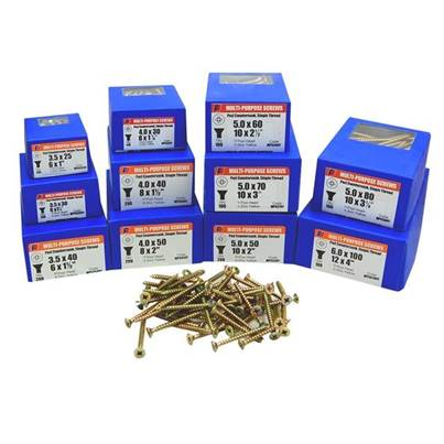 Forgefix Multi-Purpose Pozi Screw CSK ST ZYP Assorted 1800 Piece
