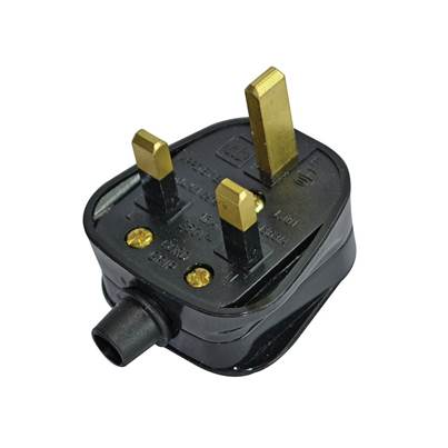 Faithfull Power Plus Black Plug 240 Volt 13 Amp