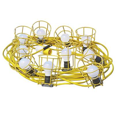Faithfull Power Plus Festoon Lights 10 ES Bulbs 110V 22m