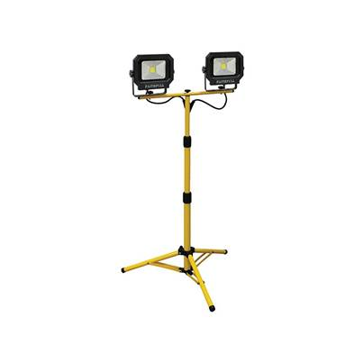 Faithfull Power Plus COB LED Twin Tripod Site Light 2800 Lumen 40 Watt