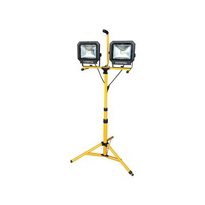 Faithfull Power Plus LED Twin Tripod Site Lights