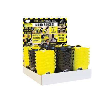 Red Gorilla Gorilla Yellow/Black Micro Tub Display 108 Piece