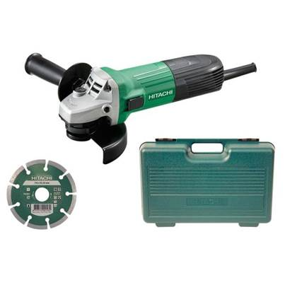 Hitachi G12STX 115mm Angle Grinder, Diamond Blade & Case