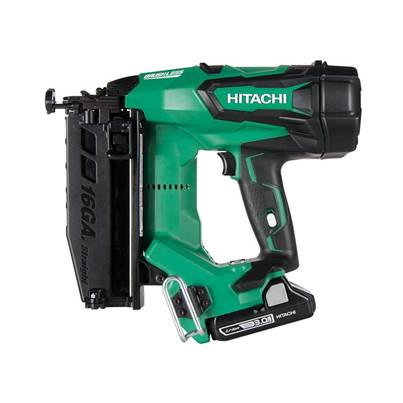 Hitachi Cordless 16G Straight Finish Nailer 18V 2 x 3.0Ah Li-Ion