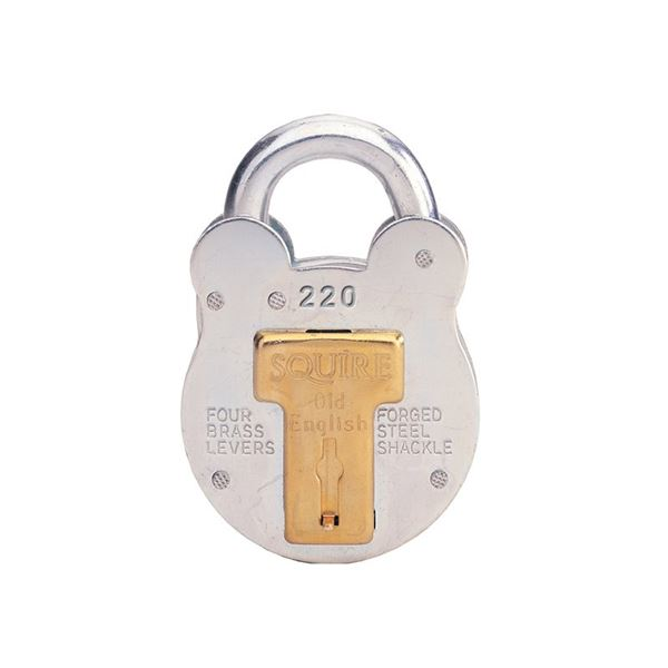 Image of 1.5in Galvanised Traditional Style Padlock 4 Lever
