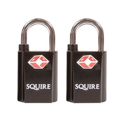 Henry Squire TSA Approved Twin Pack Keyed Alike Padlocks 2 x 20mm