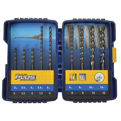 IRWIN® Speedhammer Plus Drill Bit Set, 9 Piece