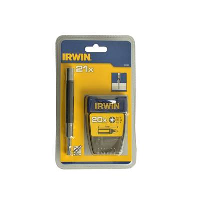 IRWIN 1840465 Screwdriver Bit Set Assorted 21 Piece