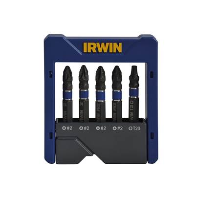 IRWIN Impact Screwdriver Pocket Bit Set of 5 Pozi/Phillips/Torx