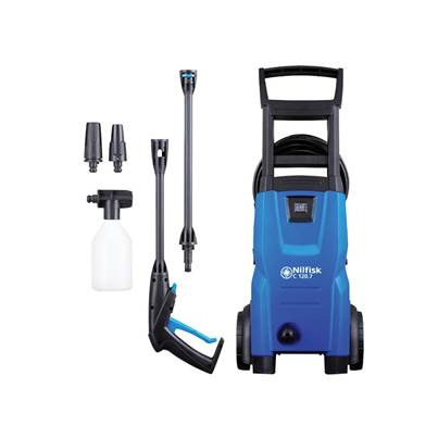 Kew Nilfisk Alto C120.7-6 PCA X-TRA Pressure Washer with Patio Cleaner & Brush 120 bar 240V