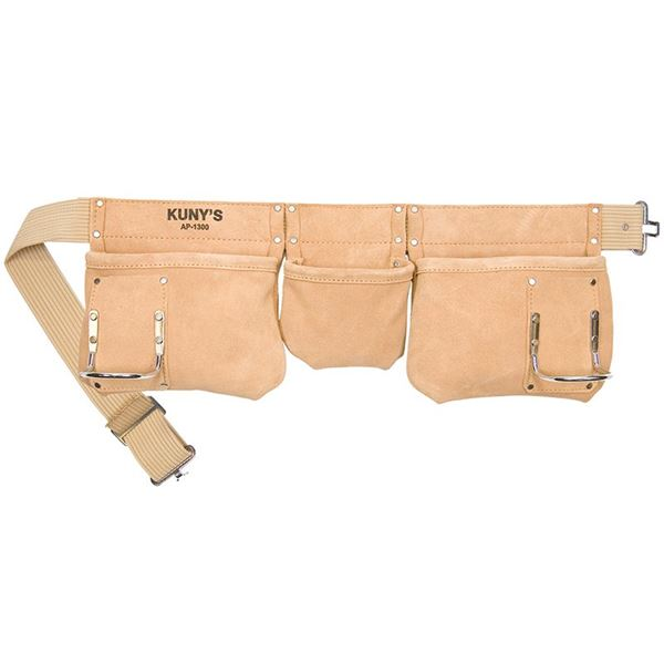 Image of Kuny's AP-1300 Carpenter's Apron 5 Pocket Suede Leather