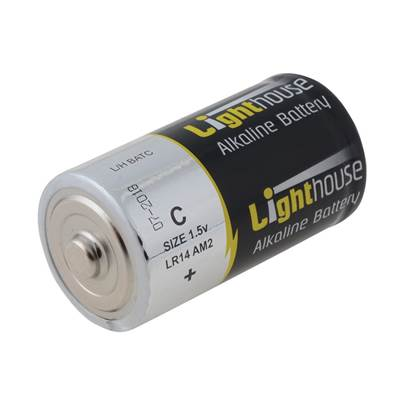 Lighthouse Alkaline Batteries C LR14 6200mAh Pack of 2