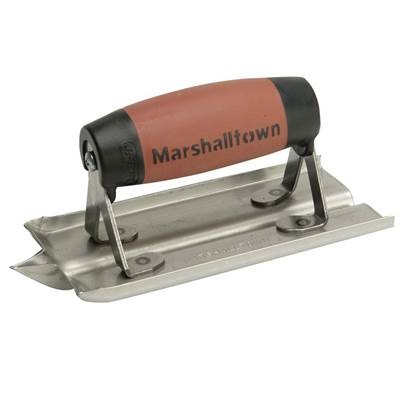 Marshalltown M180D Stainless Steel Groover Trowel Durasoft® Handle 6in x 3in