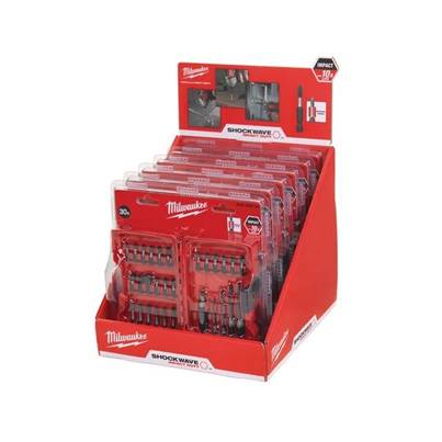 Milwaukee Shockwave 30 Piece Drilling & Driving Set Counter Display of 6 Sets