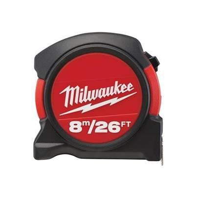 Milwaukee Contractor Pocket Tape 8m/26ft (Width 27mm)