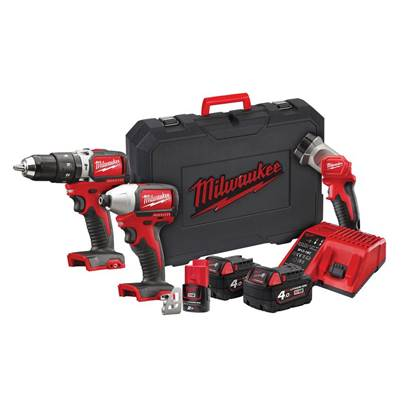 Milwaukee Power Tools M18 BLPP2D-423C Brushless Twin Pack 18V 2 x 4.0Ah, 12V 1 x 2.0Ah