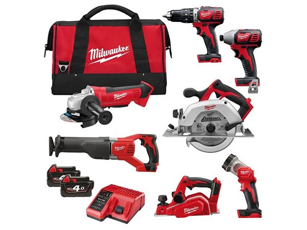 Milwaukee M18 BPP7A-402B Power Pack 7 Piece Kit 18V 2 x 4.0Ah Li-Ion