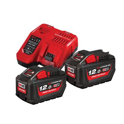 Milwaukee Power Tools M18 HNRG Battery Twin Pack 18V 12.0Ah
