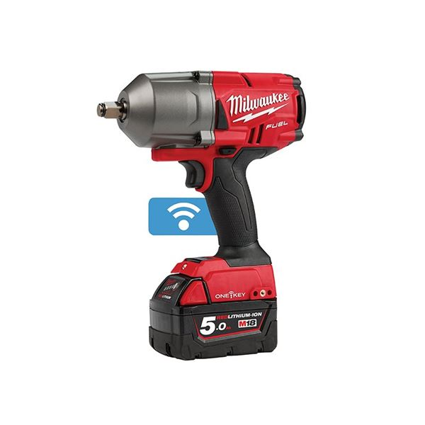 Image of Milwaukee Power Tools M18 ONEFHIWF12-502X FUEL™ ONE-KEY™ 1/2in Impact Wrench 18V 2 x 5.0Ah Li-ion