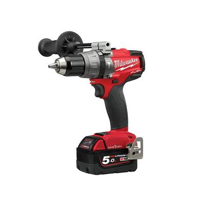 Milwaukee Power Tools M18 ONEPD2 FUEL™ ONE-KEY™ Combi Drill 18V 2 x 5.0Ah Li-ion