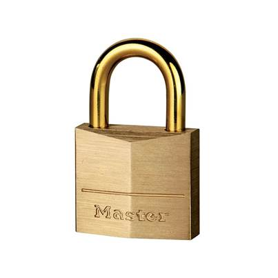 Master Lock Solid Brass Padlocks With Brass Plated Shackles
