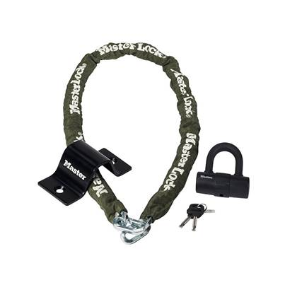 Security Kit Mini D Lock Anchor & Chain 1.5m x 8mm