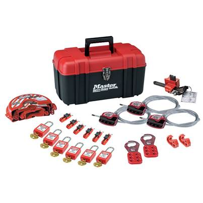 Master Lock Valve & Electrical Lockout Toolbox Kit 23-Piece