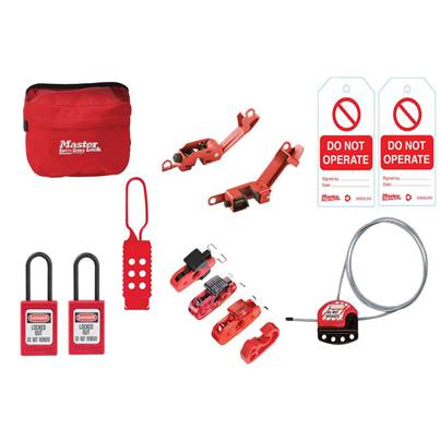Master Lock General Maintaince Lockout / Tagout Kit 15-Piece