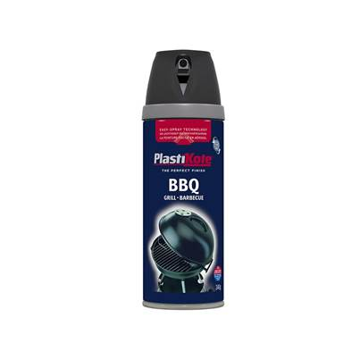 Plasti-kote Twist & Spray BBQ Paint Black 400ml