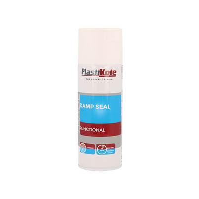 PlastiKote Trade Damp Seal Spray Paint White 400ml
