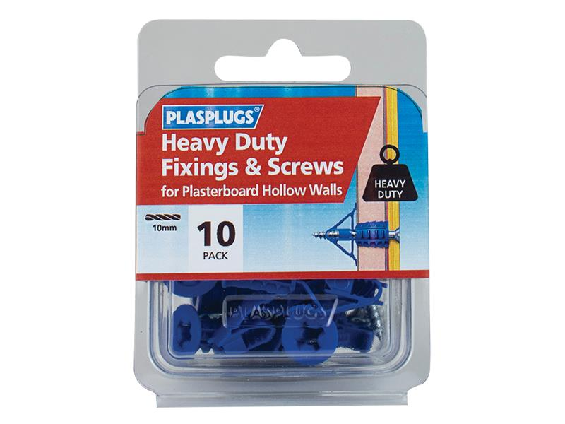 Heavy-Duty Fixings & Screws (Pack 10)