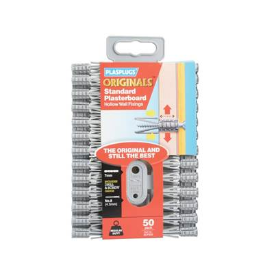 Plasplugs SCF 552 ORIGINALS™ Plasterboard Fixings Pack of 50