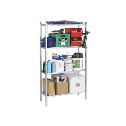 Raaco S450-31 Galvanised Shelving with 4 Shelves
