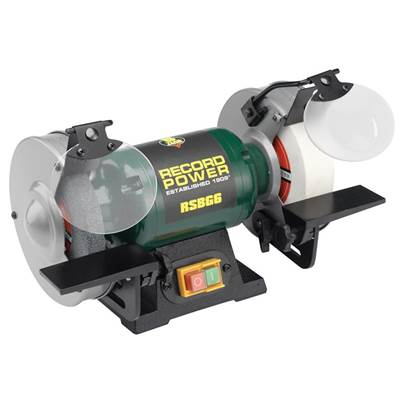 Record Power RSBG8 200mm (8in) Bench Grinder 550W 240V