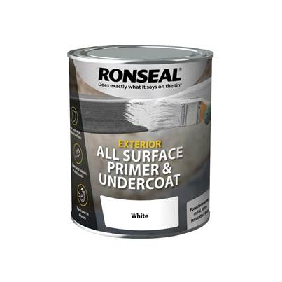 Ronseal All Surface Primer & Undercoat Exterior White 750ml