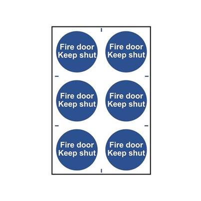 Scan Fire Door Keep Shut - PVC 200 x 300mm