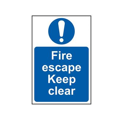 Scan Fire Escape Keep Clear - PVC 200 x 300mm