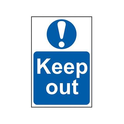 Scan Keep Out - PVC 200 x 300mm