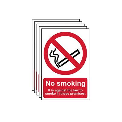 Scan No Smoking In These Premises PVC 200 x 300mm