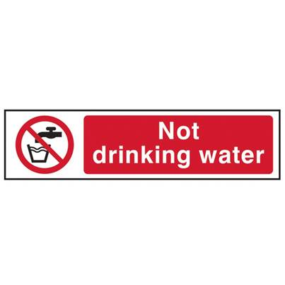 Scan Not Drinking Water - PVC 200 x 50mm