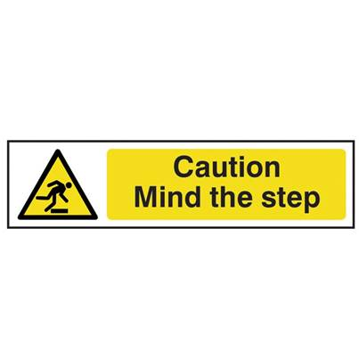 Scan Caution Mind The Step - PVC 200 x 50mm