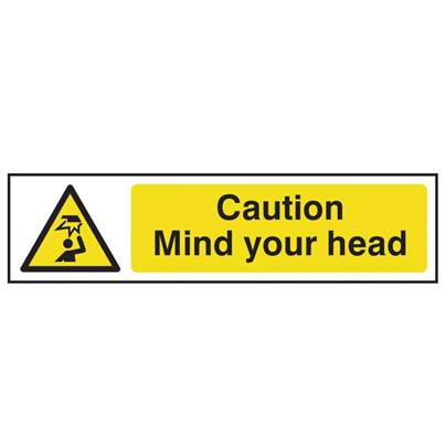 Scan Caution Mind Your Head - PVC 200 x 50mm